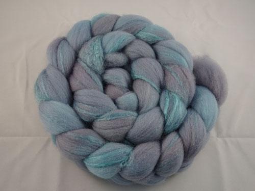 Lilac/Lavender Merino/Silk tops