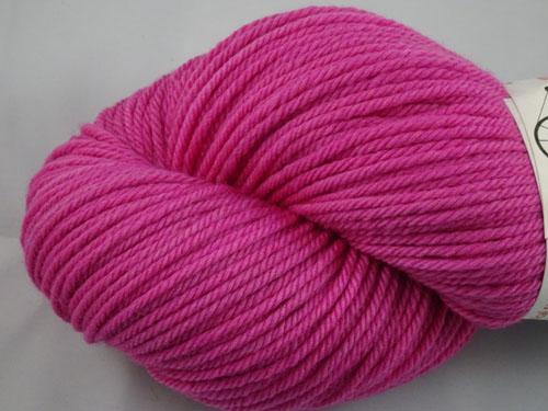 Vibrant Fuschia 8ply White Gum Wool