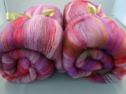 Multi Pink Wool/silk Batts