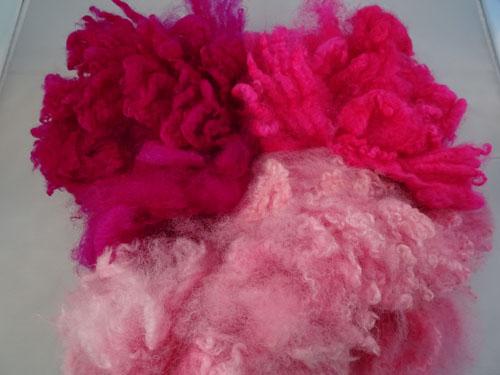 Trio of Pinks Dyed Fleece