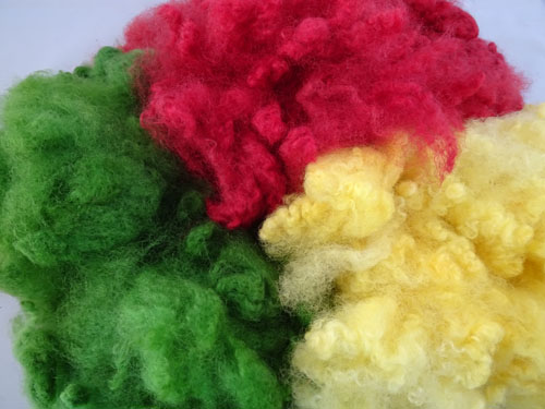 Dk Red/Pale Yellow/Green Dyed Fleece