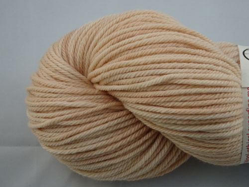 Nude 8ply White Gum Wool