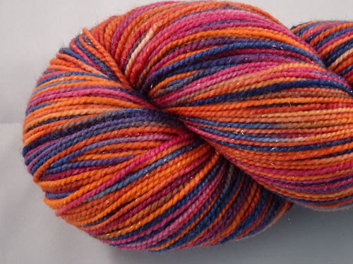 Burn For Me SW Merino/Nylon/Stellina sock yarn