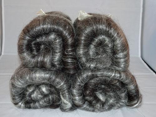 Black Shetland/Silk Batts