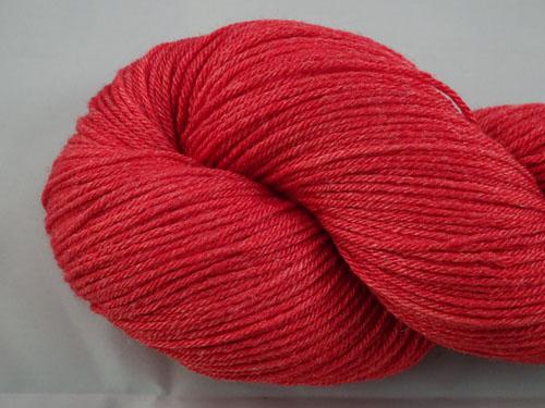 Red Superwash Merino/Bamboo/Silk Sock Yarn