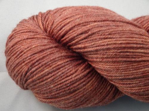 Rich Russet Superwash Merino/Bamboo/Silk Sock Yarn