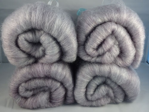 Lavender Superwash Wool/Bamboo Batts