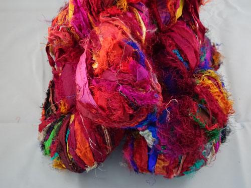Red Sari Silk Ribbon