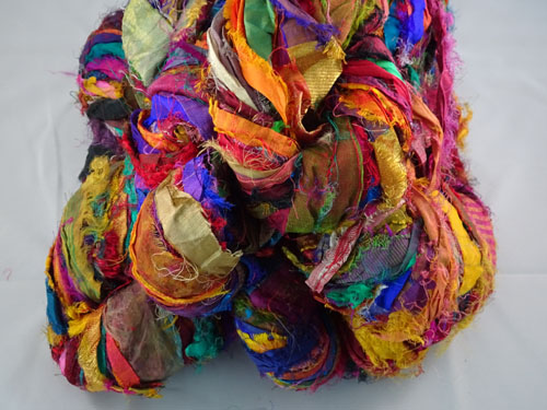 Gold Sari Silk Ribbon