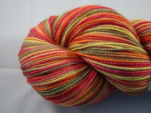Autumn Wildfire SW Merino/Nylon/Stellina sock yarn