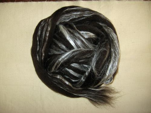 Black Shetland/Tussah Silk Tops