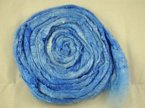 Blissful Blue Tussah Silk