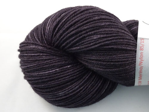 Charcoal Superwash Merino/Nylon Sock Yarn
