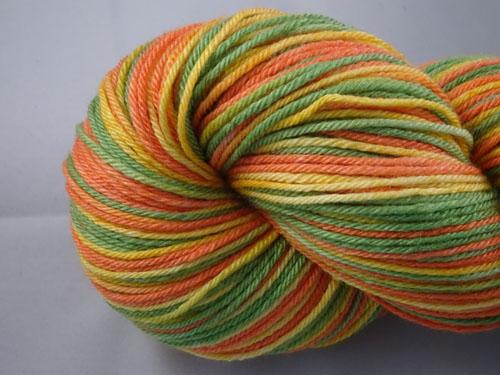 Citrus (L) Superwash Merino/Bamboo/Silk Sock Yarn