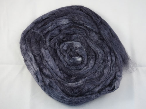 Charcoal Tussah Silk