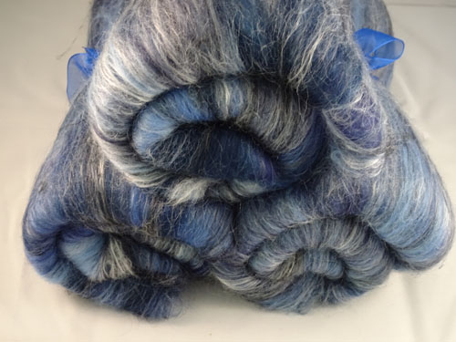 Dark Blues Wool/silk Batts
