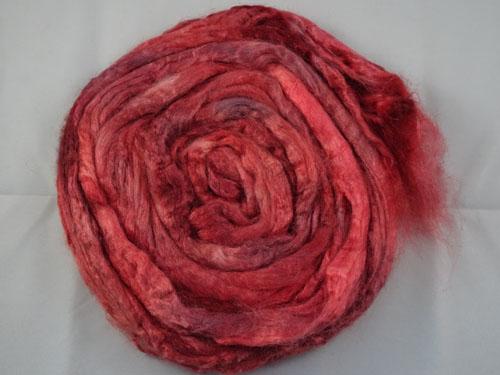 Dark Red Tussah Silk