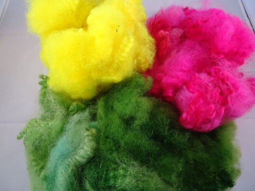 Brights - Green, Pink & Yellow Dyed Fleece