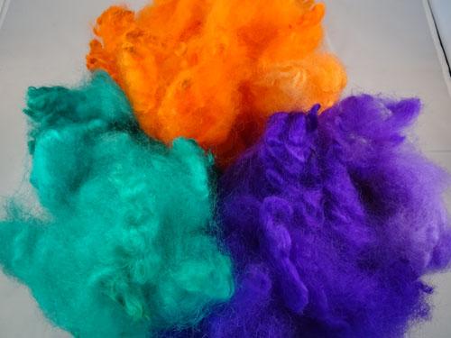 Brights - Green, Orange & Puprle Dyed Fleece