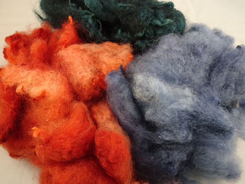 Dk Sage, Ochre & Slate Dyed Fleece