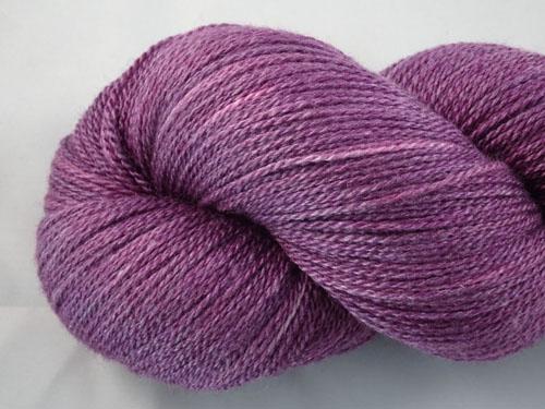 Eggplant Merino/Silk Lace Weight Yarn