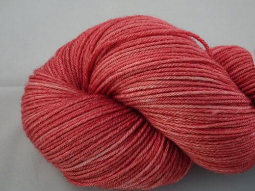 Faded Red Denim Superwash Merino/Bamboo/Silk Sock Yarn