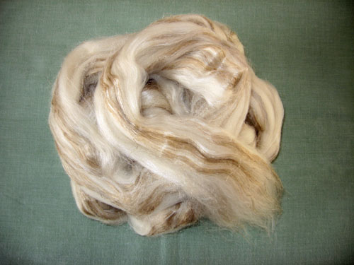 Merino/Tussah Silk/Flax Tops