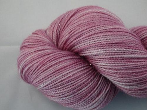 Lavender Sparkle SW Merino Sock Yarn/Nylon/Stellina