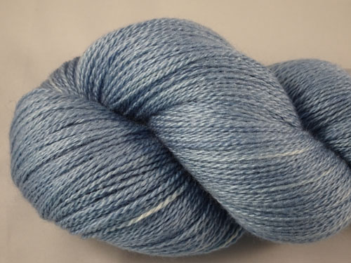 Light Blue Merino/Silk Laceweight Yarn