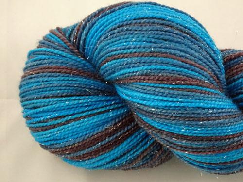 Now That Is Blue SW Merino Sock Yarn/Nylon/Stellina