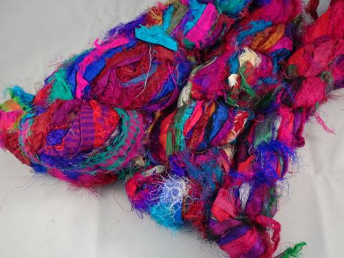 Purple Sari Silk Ribbon