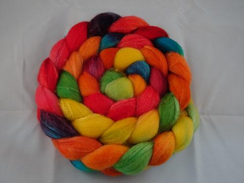 Rainbow Merino/Silk tops