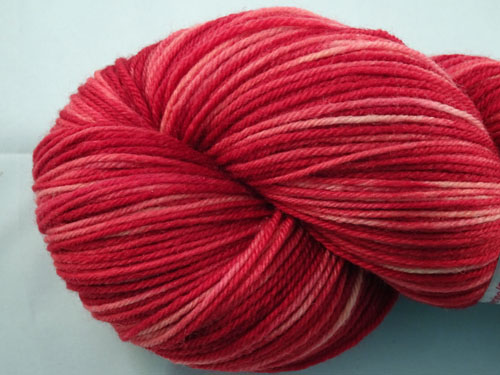 Ready Red SW Merino/Cashmere/Nylon Sock Yarn