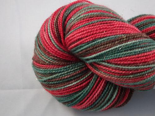 Red Flowering Gum (L) SW Merino Sock Yarn/Nylon/Stellina