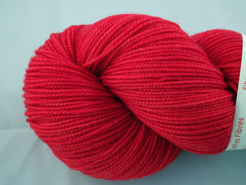 Red SW Merino Sock Yarn