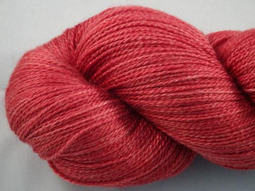 Red Denim Merino/Silk Laceweight Yarn