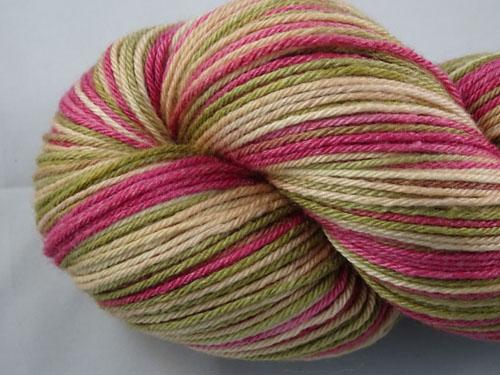 Rose Gardens (L) Superwash Merino/Bamboo/Silk Sock Yarn