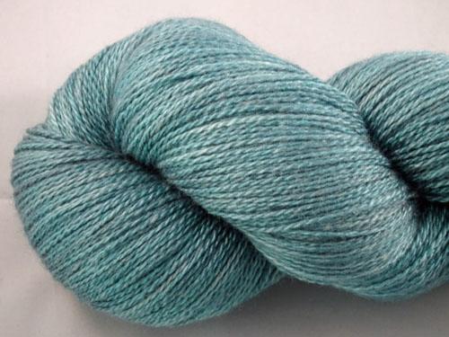 Shaded Teal Merino/Silk Laceweight Yarn