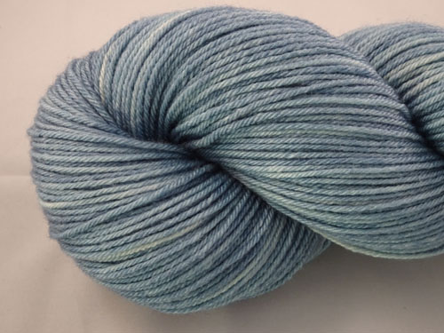 Smoky Blue Superwash Merino/Bamboo/Silk Sock Yarn