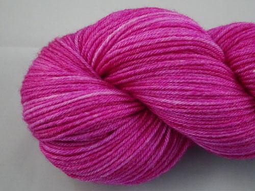 Soft Magenta Superwash Merino/Bamboo/Silk Sock Yarn