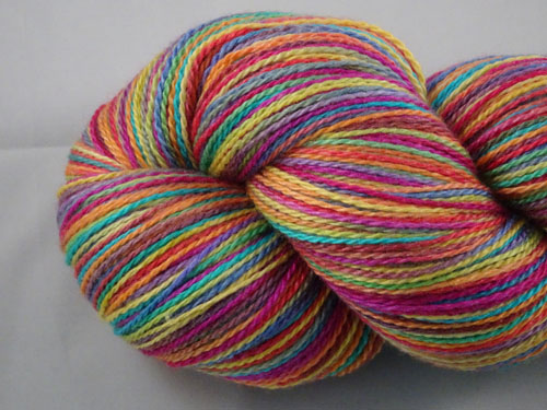 Stained Glass Merino/Silk Laceweight Yarn