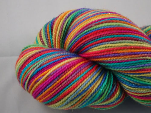 Stained Glass SW Merino/Nylon/Stellina sock yarn