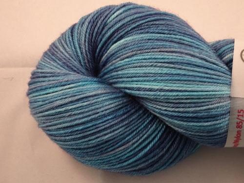 The Blue Purple Effect Superwash Merino/Nylon Sock Yarn