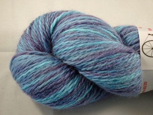 Varigated Purple Merino/Angora 80/20 Light 10ply